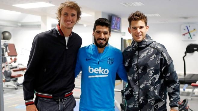 Зверев и Тийм при звездите на ФК Барселона (снимки)