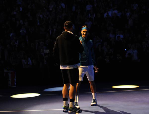 ВИДЕО: Най-интересното от шоуто Федерер - Родик в Ню Йорк