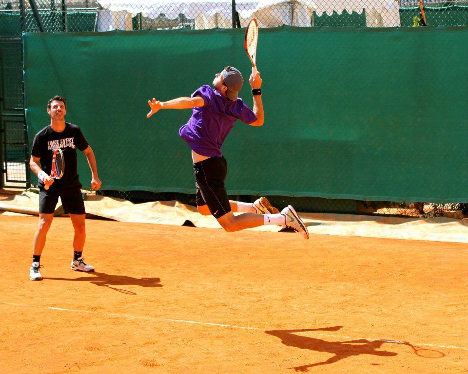 Григор Димитров на корта в Монте Карло днес (снимки)