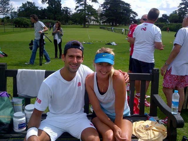 Ноле и Маша тренират заедно за Олимпиадата в Лондон