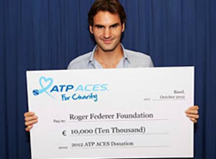 АТР даде чек за фондацията на Федерер
