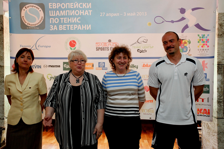 Тенисисти от 37 държави на европейското за ветерани в София