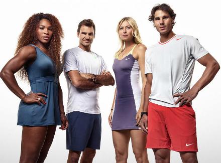 Шарапова, Уилямс, Федерер и Надал със забавна фотосесия (снимки)