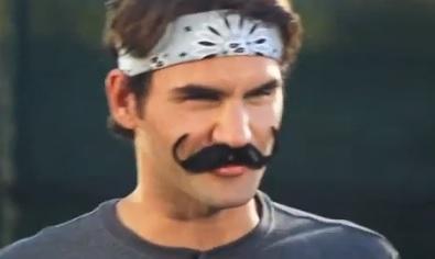 ВИДЕО: Федерер с мустаци в забавно видео за Wilson