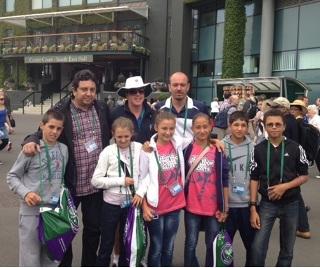 Български тенисисти подкрепиха Григор Димитров на Уимбълдън