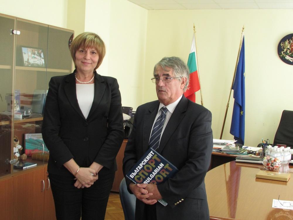 Шефът на Европейския тенис се срещна с министъра на спорта