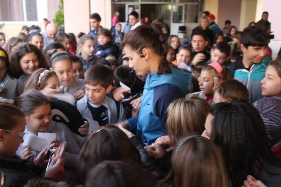Цвети Пиронкова потренира с ученици от Пловдив (снимки)