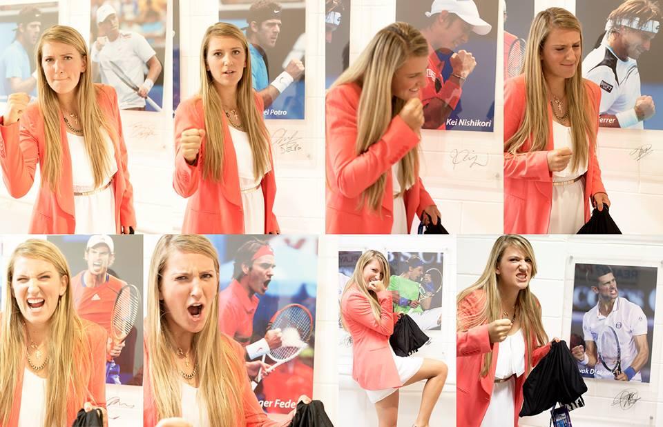 Виктория Азаренка имитира емоциите на мъжете