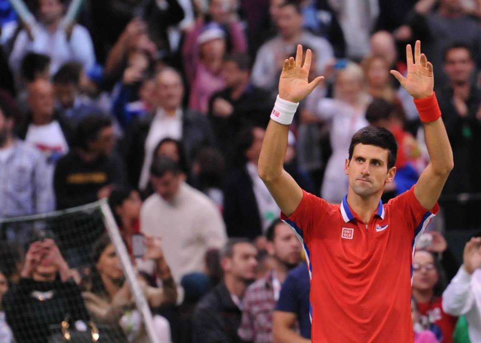 Джокович поведе Сърбия след 23-и пореден успех (видео)
