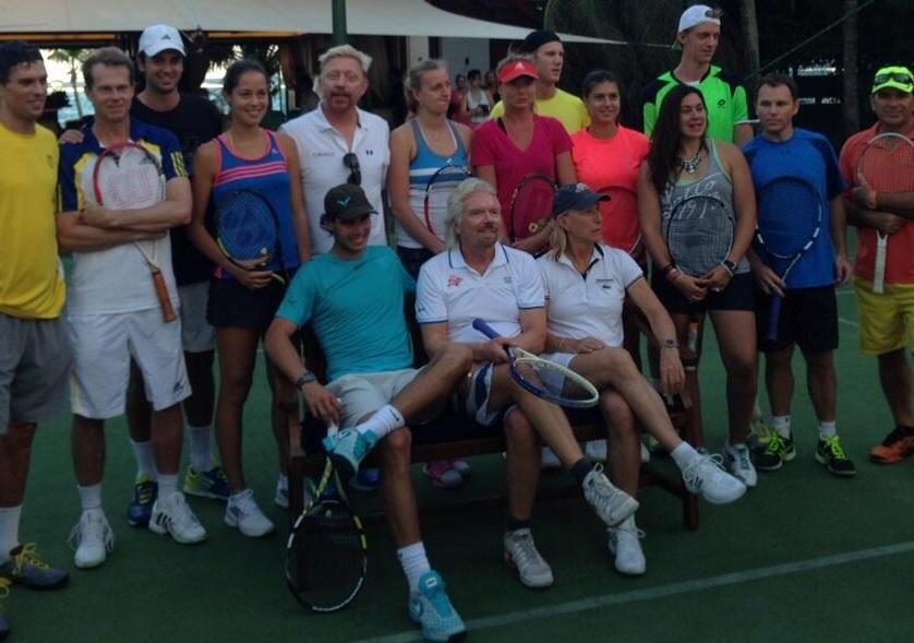 Ричард Брансън отново събра куп тенис звезди на своя райски остров