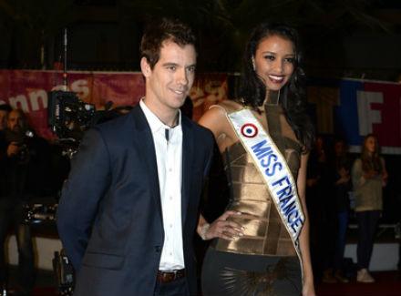 Ришар Гаске заедно с Мис Франция на музикалните награди на NRG