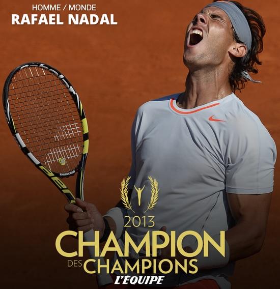 """Надал бе избран за най-добрият спортист през 2013-а от """"Екип"""""""