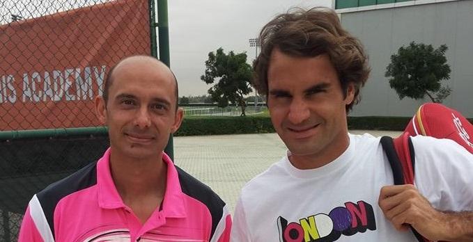 Валентин Димов се срещна с Федерер в Дубай