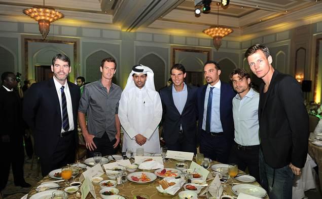 Топ тенисистите се събраха за парти преди турнира в Доха (снимки)