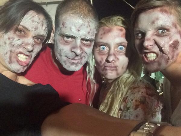 Зомби парти за тенисистките в Монтерей (снимки)