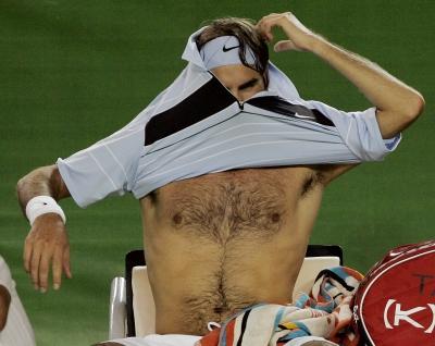 Защо Федерер никога не се поти?