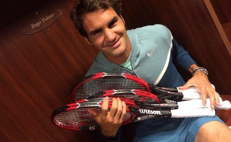 Федерер показа новата си ракета (снимки и видео)