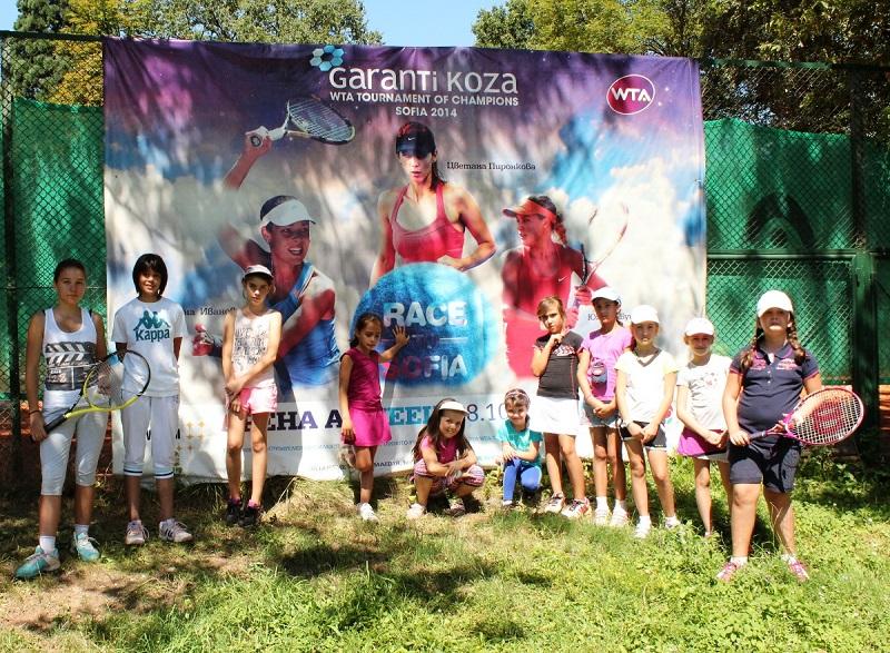 Малките ни таланти играят със звездите на WTA в Турнира на шампионките