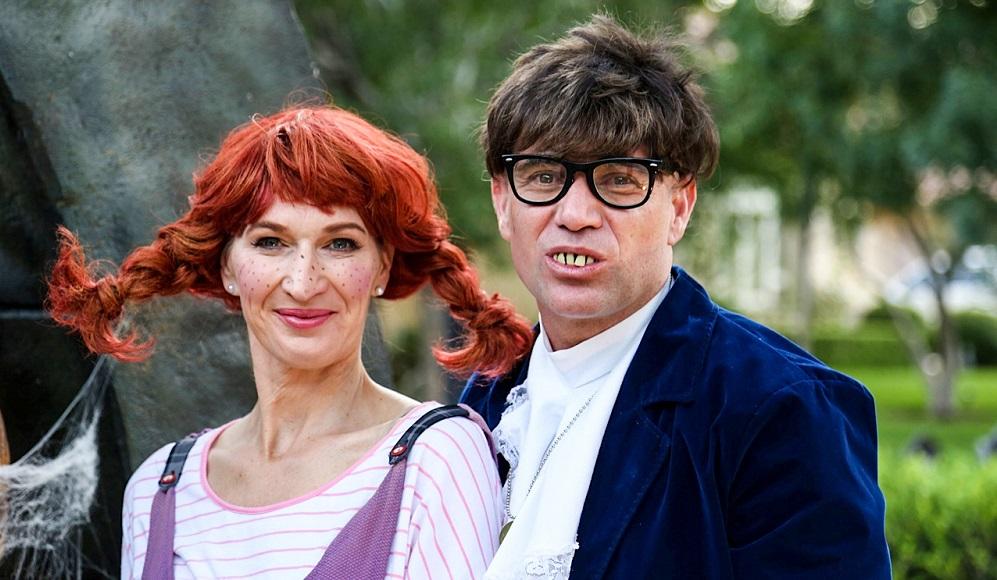 Щефи и Андре - като Пипи и Остин Пауърс за Хелоуин
