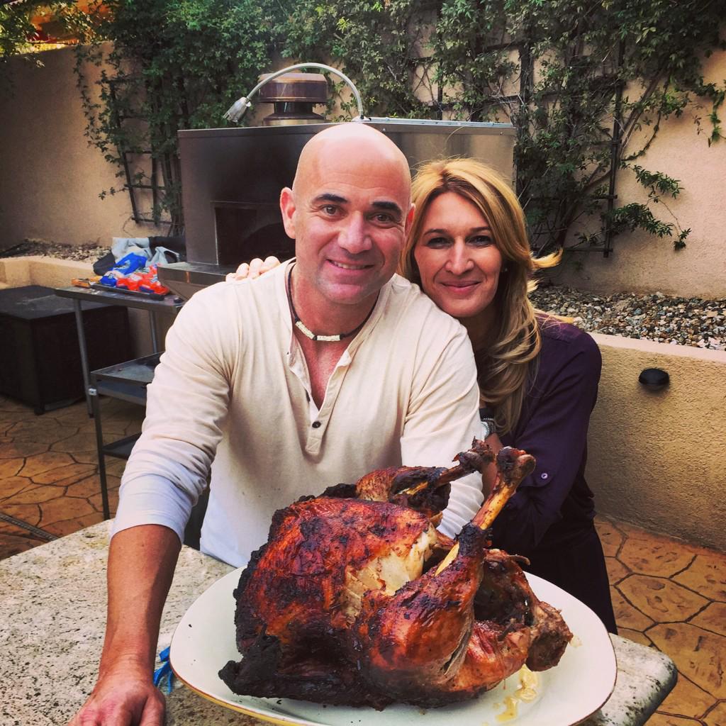 Андре се прояви в кухнята за Деня на благодарността