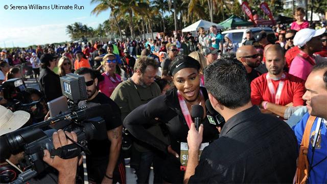 Серина участва благотворително в маратон (видео)