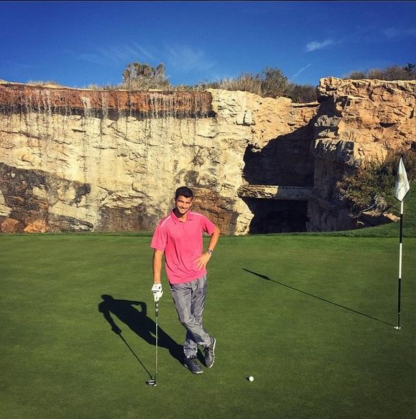 Гришо загрява за новия сезон с Маша и голф (снимки)
