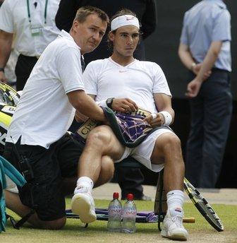 """След днешната тренировка, коляното на Надал е """"много по-добре"""""""