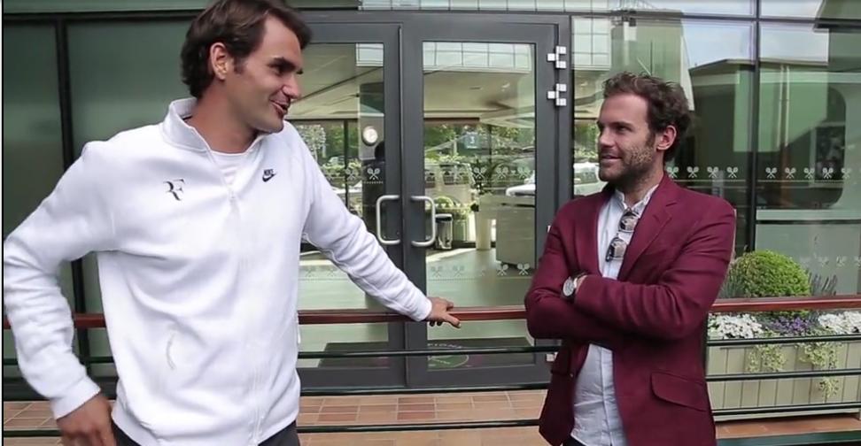 """Федерер се срещна със звезди на """"Манчестър Юнайтед"""""""