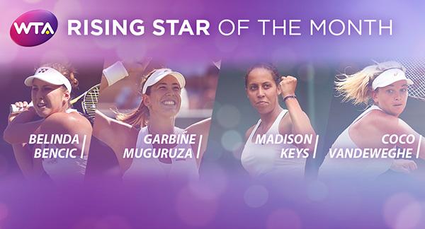 """Четири тенисистки в спор за приза """"Изгряваща звезда на месеца"""""""