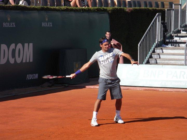 Федерер е в Монте Карло, тренира с Ришар Гаске (снимки)