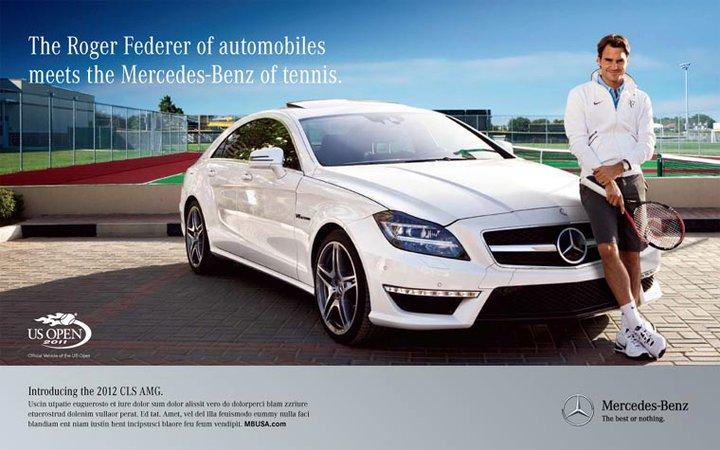 ВИДЕО: Федерер и новият Mercedes Benz