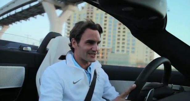 ВИДЕО: Федерер направи тест-драйв на новия Mercedes-Benz SLS AMG Roadster