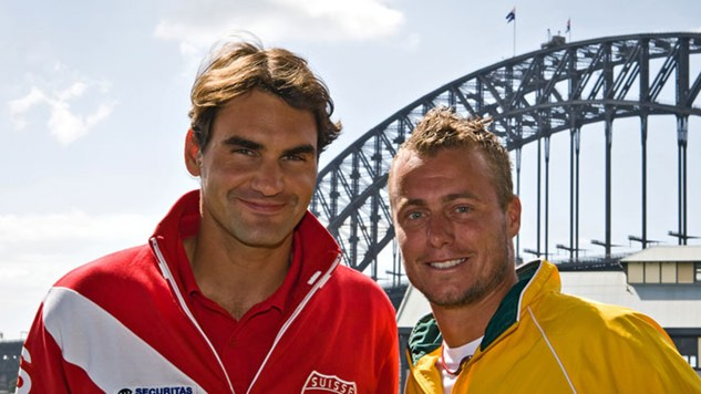 Хюит срещу Федерер за Davis Cup (видео)