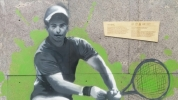 Рисунка на Адриан Андреев грейна пред Спортната палата