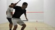 Състезатели от Египет и Австралия на турнира по скуош в София