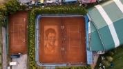 Направиха портрет на Джокович върху корт (видео и снимки)