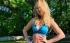 Руска тенисистка поддържа форма сред природата (снимки)